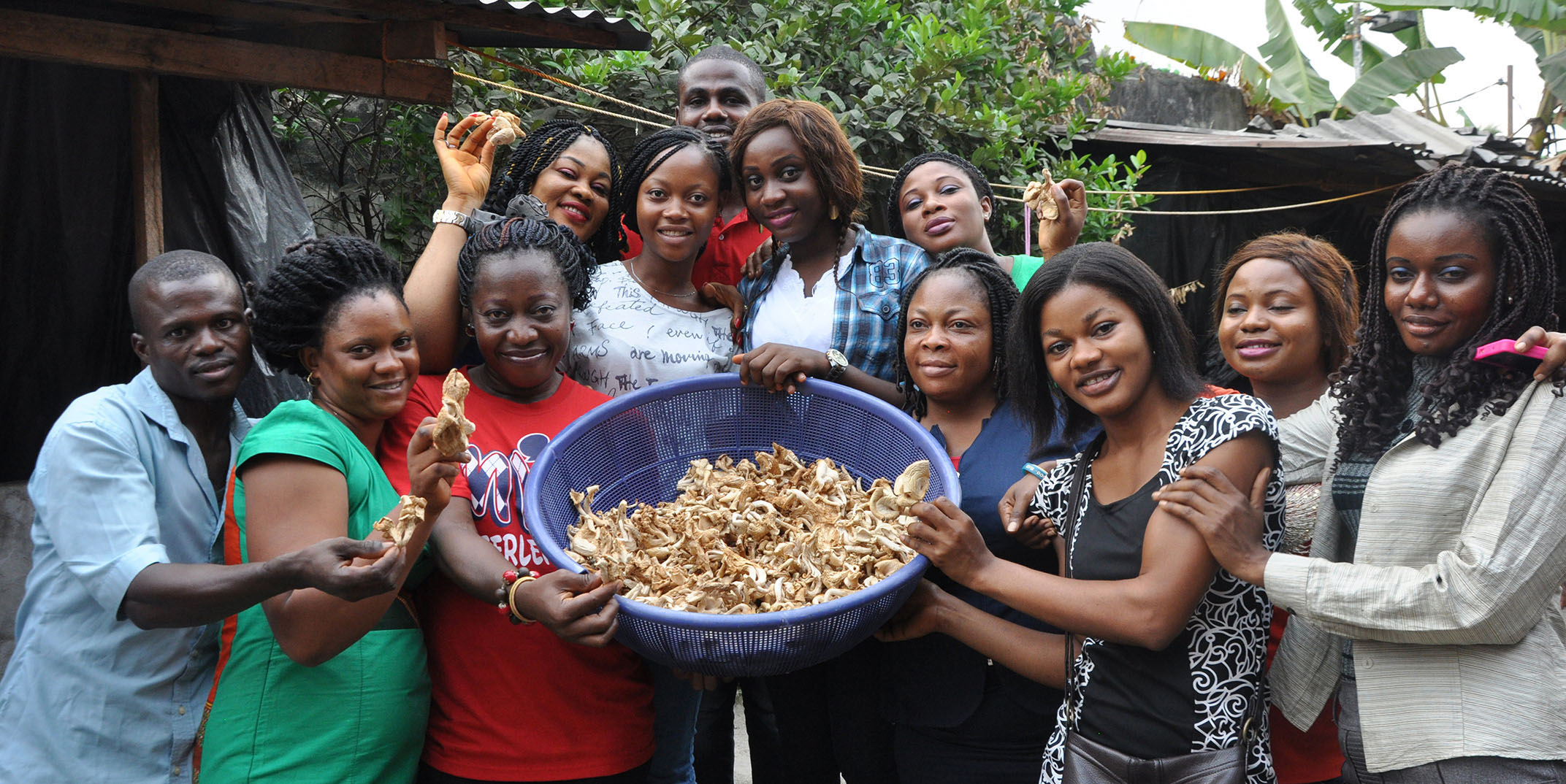 YouLead Beneficiaries upon completion of technical training in mushroom production